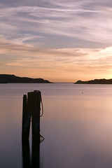 Calm at Sunset (diesmali) Tags: sunset gteborg long exposure sweden harbour gothenburg sverige poles archipelago skrgrd styrs canon50mmf14usm nd110 hallsvik canoneos7d