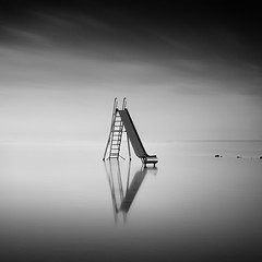 Black Ice (MichelleWhy - Stefanie Loges) Tags: longexposure sea white seascape motion black monochrome clouds see mood wolken filter lee nd weiss schwarz tranquil stefanie holstein schleswig rutsche loges wittensee bigstopper michellewhy buensdorf