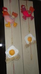 ficou fofo esse mbile (ednapatchearte) Tags: de feltro galinhas mbiles