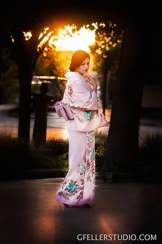 Senior Picture in Japanese Kimono