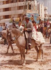 Esta foto fue tomada en los aos 70 (Mara Rodrguez Trujillo) Tags: del feria rey 1970 jinete tarifa huerta barriada huertadelrey