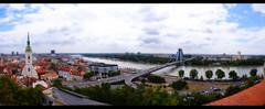 Bratislava Panorama (chinee1111) Tags: friends summer fun high sony shift 350 heat slovakia alpha grad 36 tilt bratislava slowakei tatra heis tiltshift mnnerurlaub