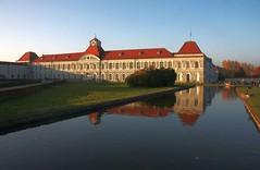 Nymphenburg castle in Munich at declining sun [Explore] (Sokleine) Tags: reflection castle germany bayern deutschland bavaria palace baroque schloss allemagne château reflets nymphenburg bavière