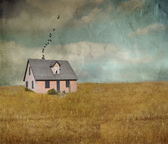 Pink Prairie House (Cat Girl 007) Tags: pink house abandoned textures wyoming prairie grandtetons jacksonhole mormonrow moonseclipse distressedjewell magicunicornverybest photoshopbrushesbirdsandcat moonseclipsegallery27