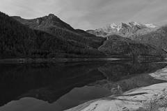 The Giant Mirror! (pillows87) Tags: bw mountain lake valle climbing mont blanc dellorco