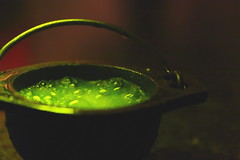 Bubble, Bubble, Toil and Trouble (Elizabeth_211) Tags: green spooky cauldron macromondays