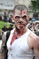 Zombie Walk Argentina 2012 (Florencia Lezcano) Tags: halloween argentina dark blood nikon zombie walk clown obelisco zombiewalk