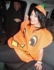 Lucy Spraggan dressed as a pumkin