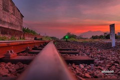 Now I am a steel wheels (faizlabib) Tags: sunset canon landscape photography railway indonesian wesel thematic sidoarjo notalay visitpercab2013 indonesiannature