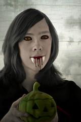Count Malicious (Lo766) Tags: autumn portrait macro fall halloween nikon sweden vampire son vampires 2012 odc ourdailychallenge odc3 lo766 picmonkey