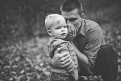 Cute Secrets. (R. White Photography) Tags: family boy blackandwhite baby love dad dramatic son secrets mep mysteryeyes