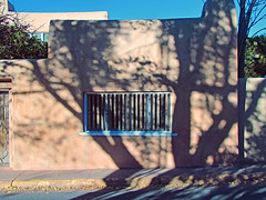 Canyon Road Shadows: Santa Fe, New Mexico (NM) (Floyd Muad'Dib) Tags: road santa new city windows shadow newmexico santafe window wall geotagged mexico gallery different shadows canyon galleries adobe walls fe nm floyd muaddib lattice santafenewmexico canyonroad santafenm lattices thecitydifferent floydmuaddib