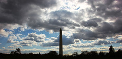 Washington Monument with clouds - 2012-11-02