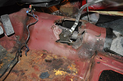 "S code 1969 Mustang Mach 1 390 4 speed Fastback Before Restoration Floor Repair • <a style=""font-size:0.8em;"" href=""http://www.flickr.com/photos/85572005@N00/8150764214/"" target=""_blank"">View on Flickr</a>"