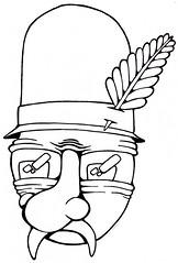 Hillbilly Man (Ghost Flamingo) Tags: man fern sketch drawing doodle land farmer sharpie draw simple hillbilly