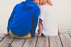 Jenna & Joe (Michael Holst Photography) Tags: portrait lake love boyfriend water minnesota photography 50mm michael dock kiss girlfriend couple 14 minneapolis front uptown 1d isles holster holst mk3