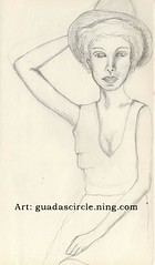woman with hat (Pentarte) Tags: portrait woman hat pencils sketch drawing