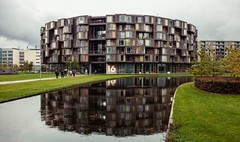Lundgaard and Tranberg. Tietgenkollegiet #1 (Ximo Michavila) Tags: urban house abstract reflection building geometric window water architecture copenhagen denmark student graphic perspective cph residence tietgenkollegiet archidose lundgaardandtranberg archdaily archiref