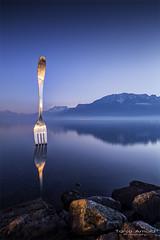 La Fourchette (Tanja Arnold Photography) Tags: mountain lake mountains alps reflection art nature water berg alpes canon landscape eos schweiz switzerland s