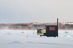 voisins de biais (RAWbin...) Tags: winter ice fishing quebec hiver stlaurent peche cabane glace fleuve boischatel pecheblanche