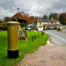 Gold postbox at Bentworth