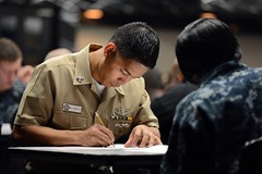 A Sailor takes his advancement exam. (Official U.S. Navy Imagery) Tags: heritage japan america liberty freedom commerce unitedstates military navy sailors fast worldwide tradition usnavy yokosuka protect deployed flexible onwatch beready defendfreedom warfighters nmcs chinfo sealanes warfighting preservepeace deteraggression operateforward warfightingfirst navymediacontentservice