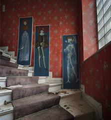 the skellington family  ( Explore ) (andre govia.) Tags: family art abandoned window strange stairs buildings hospital photo photos decay ghost best creepy urbanexploration horror ghosts nightmare derelict decayed skellington urbex andregovia