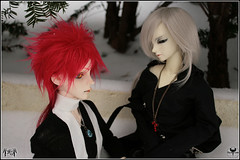 Snow Helldan + Ramiel (BathorYume) Tags: snow doll orion bjd tender dreamofdoll doi cerberusproject lahoo ramiel nanuri bathoryume yukikira helldan