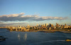 Panoramic view towards Brooklyn (TheMachineStops) Tags: 2009 nyc newyorkcity brooklyn clouds water eastriver photoshop outdoor sky waterfront sunlight brooklynbridge panorama skyline