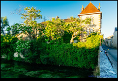 160709-9633-XM1.jpg (hopeless128) Tags: france building eurotrip 2016 bridge river bicycle verteuilsurcharente aquitainelimousinpoitoucharen aquitainelimousinpoitoucharentes fr