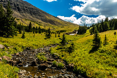 Hayden Creek Headwaters (Kent Copeland) Tags: absarokamountains yellowstonepark wyoming mountana brilliantsky clouds