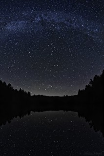 Milky Way on lake - Voie lactée sur lac