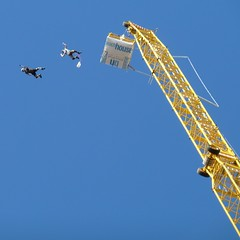 20160828 Blackpool Parachute Freefall (blackpoolbeach) Tags: blackpool beach crane airgamez parachute freefall cage seaside waterloo headland promenade mobile base jump