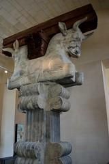 Persian Double-headed Bull (tokyobogue) Tags: paris louvre france museedulouvre museum art gallery persia bull persiandoubleheadedbull column nikon d7100 nikond7100