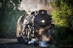 Around the bend [explore] (Scott (Smiley)) Tags: owosso michigan steam railroading institute sri pm1225 1225 pere marquette 2016