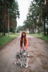 7K5A5610 (KirillSokolov) Tags: girl portrait redhead dog canon 5d3 50mm kostrona kirillsokolov