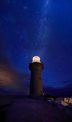 Star Beacon (Rodney Campbell) Tags: lccp night lighthouse southcoast twilight milkyway stars montagueisland newsouthwales australia au
