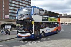 Stagecoach AD Enviro 400MMC 10581 SN16OTW - Stockport (dwb transport photos) Tags: stagecoach alexander dennis enviro bus decker 400mmc 10581 sn16otw stockport