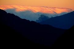 Pink, Orange, Blue, Black (Dru!) Tags: sunrise alpenglow coastmountains boundaryranges bc britishcolumbia canada