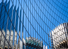 Gaze (rgcxyz35) Tags: glass blue limestreet england london reflections city windows willistowerswatson lloydsoflondon buildings architecture