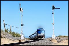 AMTK 157 (golden_state_rails) Tags: amtrak amtk santafe atsf santa fe southwest chief 3 semaphore semaphores uss union switch signal upper quadrant new mexico springer nm