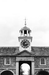 Clock Tower, Dunham Massey (MCorrigan1983) Tags: jch400 streetpan 2016 bw dunhammassey jchstreepan400 nikkor50mmf14ais nikonfe2 clock clocktower