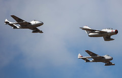 MiG 15 and Vampires MPX KPX Norwegian Historic Flight 003-1 (cwoodend..........Thanks) Tags: 2016 southportairshow2016 southport southportairshow airshow mikoyan mikoyangurevich mig15 red18 vampire norweganhistoricflight mpx kpx dehavilland dehavillandvampire