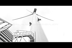 Worlds largest windturbine, Vestas V164 8MW at Esbjerg, Danmark (Rockenbauer K.) Tags: world largest vestas v164 8 mw mega watt 8000 kilo kw danmark dänemark esbjerg offshore sea see meer coast küste near hafen haven stair treppe stiege door türe eingang entrance sw schwarz weiss black white tower turm rotor flügel wing blade blatt nacelle gondel maschinenhaus warningstripes warnmarkierung himmel sky electricity elektrizität strom power energy eolienne energie wind windfarm windmill windenergy windenergie windmühle windrad windpark renewable erneuerbar windkraft windpower
