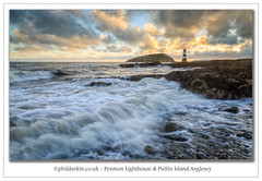Penmon Sunrise (Phil Durkin) Tags: 2016 anglesey lighthouse penmon penmonlighhouse puffinisland sea september sunset wales daytime rocks shoreline summer sunrise tide water clouds waves incoming