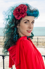 Kitty - DSC_0047 (John Hickey - fotosbyjohnh) Tags: 2016 bray modelshoot september2016 cowicklow ireland femalemodel female person woman lady portrait portraiturephotography photoshoot red nikon nikond5100