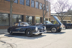 Gullwing (Hertj94 Photography) Tags: mercedes benz 300 sl coupe fuelfed coffee classics downtown winnetka illinois april 2016 canon t3