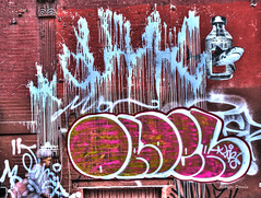 22nd street art (albyn.davis) Tags: street streetart red wall abstract art nyc newyorkcity color urban city