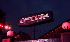 Open Casket Vampire Bar (emily_mcdonald) Tags: halloween gardens bar virginia vampire williamsburg busch 2012 howloscream