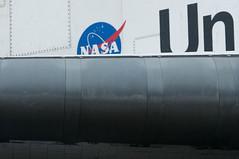 Shuttle wing leading edge (SBGrad) Tags: losangeles nikon nasa spaceship nikkor spaceshuttle spacecraft 2012 inglewood endeavour alr 80200mmf28dafs ov105 bigendeavour mission26